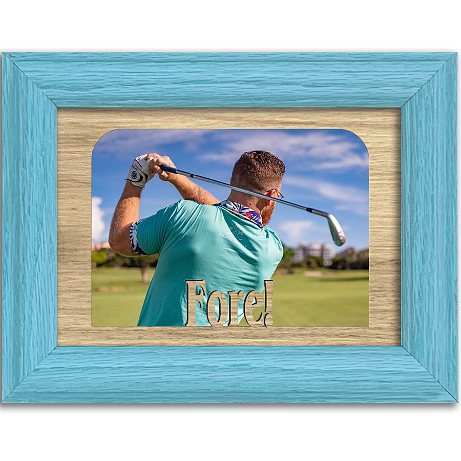 Fore! Tabletop Picture Frame - Holds 4x6 Photo - Multiple Color Options