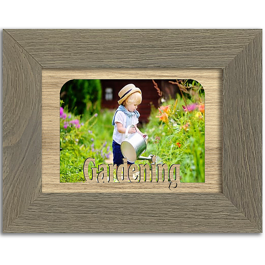Gardening Tabletop Picture Frame - Holds 4x6 Photo - Multiple Color Options