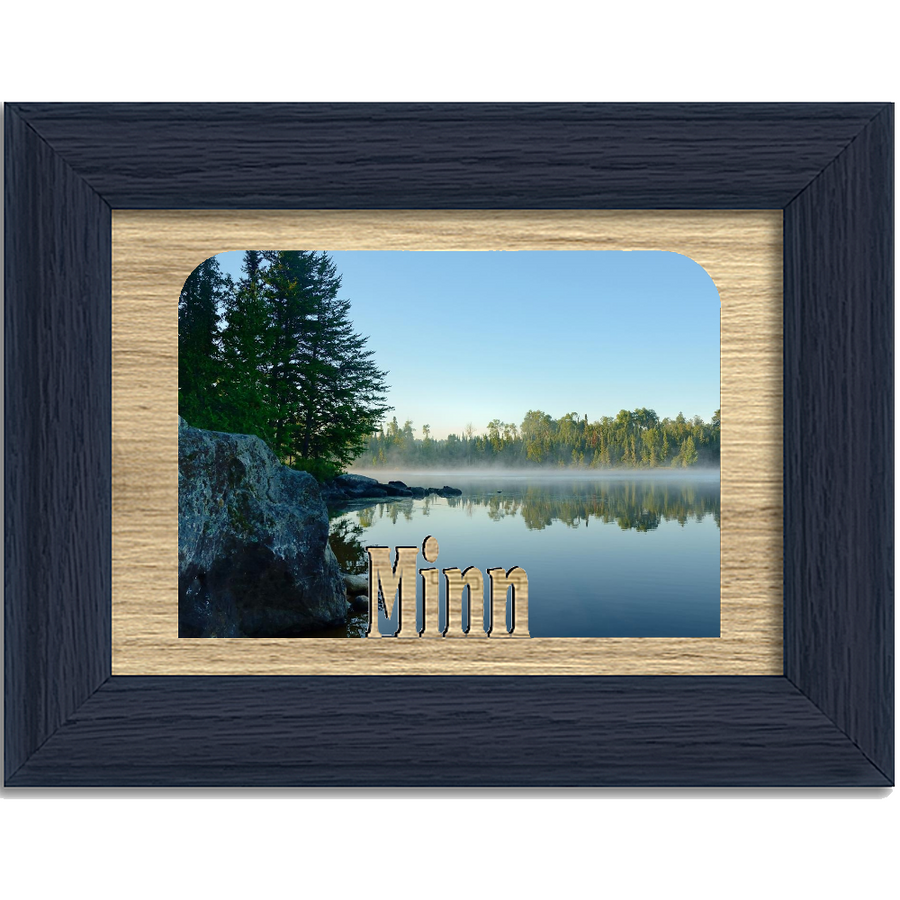 Minn Tabletop Picture Frame - Holds 4x6 Photo - Multiple Color Options