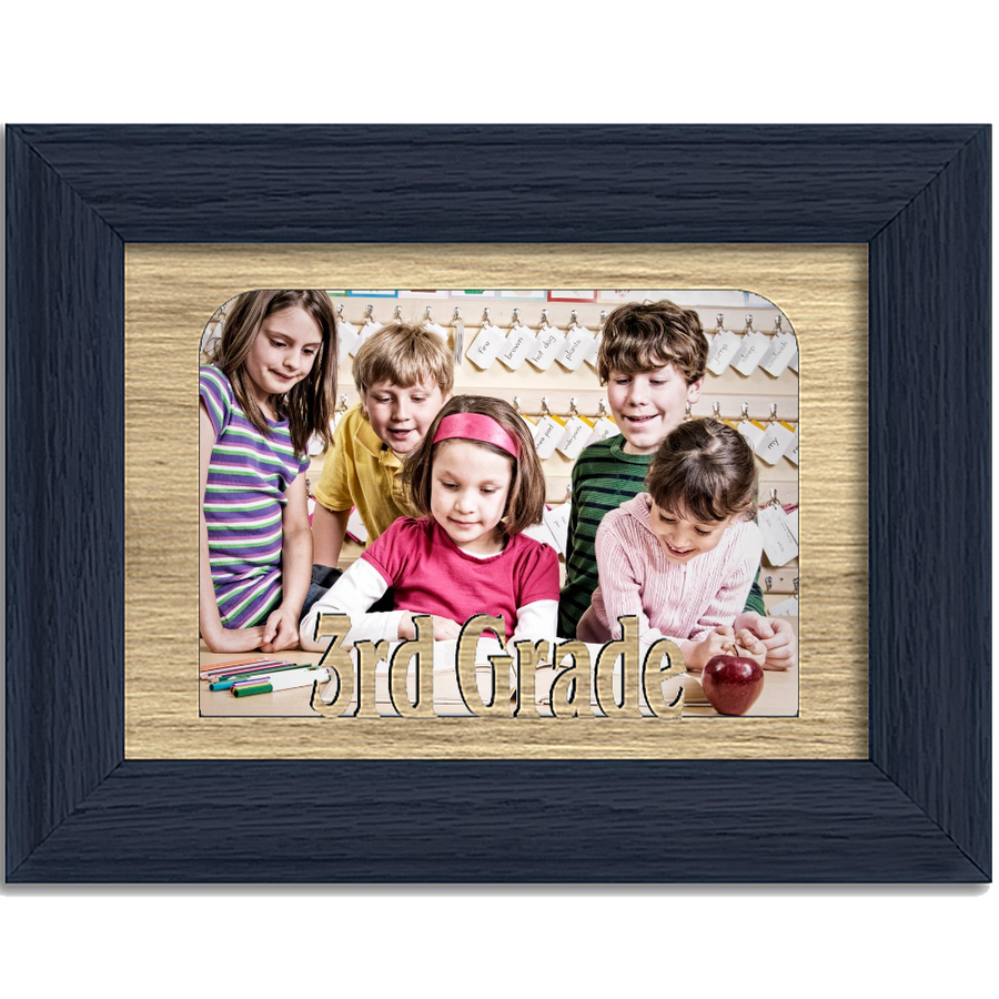 3rd Grade Tabletop Picture Frame - Holds 4x6 Photo - Multiple Color Options