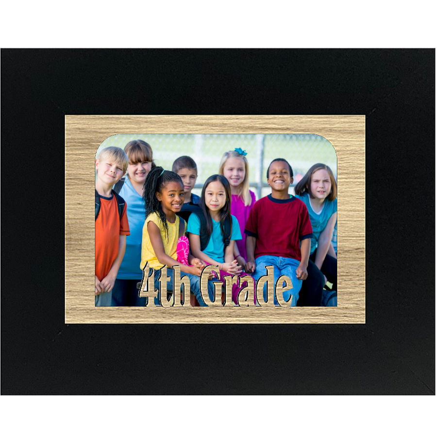 4th Grade Tabletop Picture Frame - Holds 4x6 Photo - Multiple Color Options