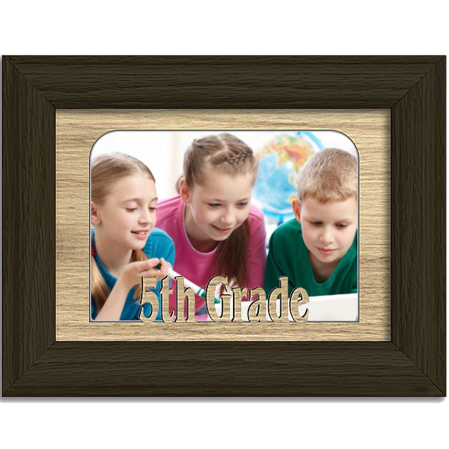 5th Grade Tabletop Picture Frame - Holds 4x6 Photo - Multiple Color Options