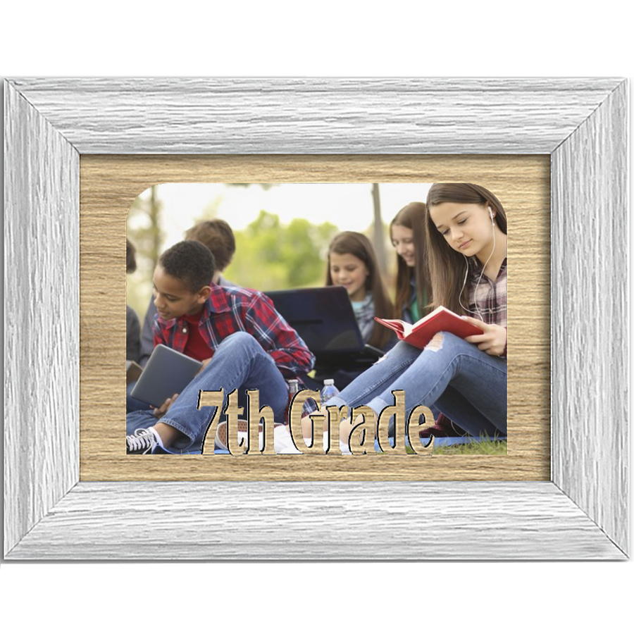 7th Grade Tabletop Picture Frame - Holds 4x6 Photo - Multiple Color Options