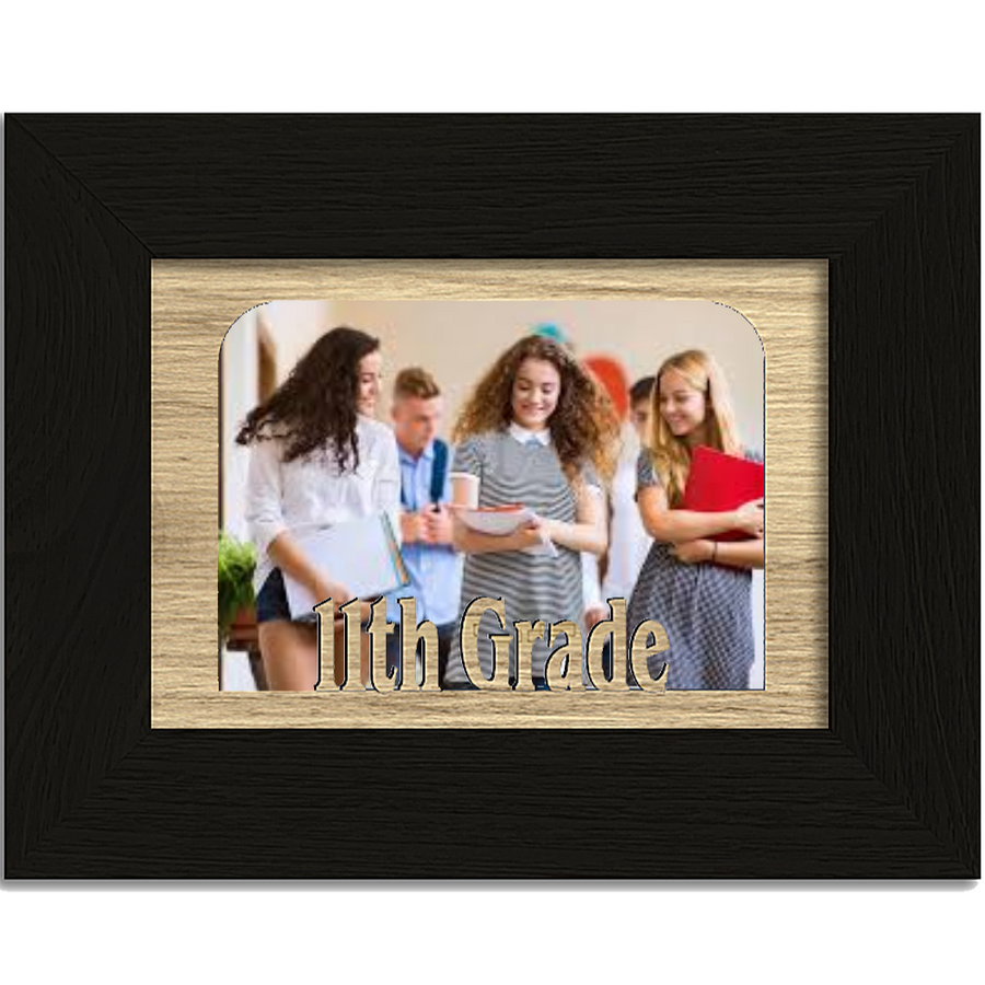 11th Grade Tabletop Picture Frame - Holds 4x6 Photo - Multiple Color Options