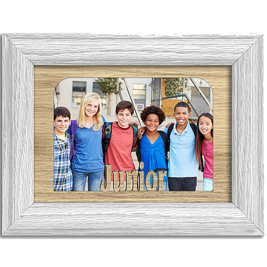 Junior Tabletop Picture Frame - Holds 4x6 Photo - Multiple Color Options
