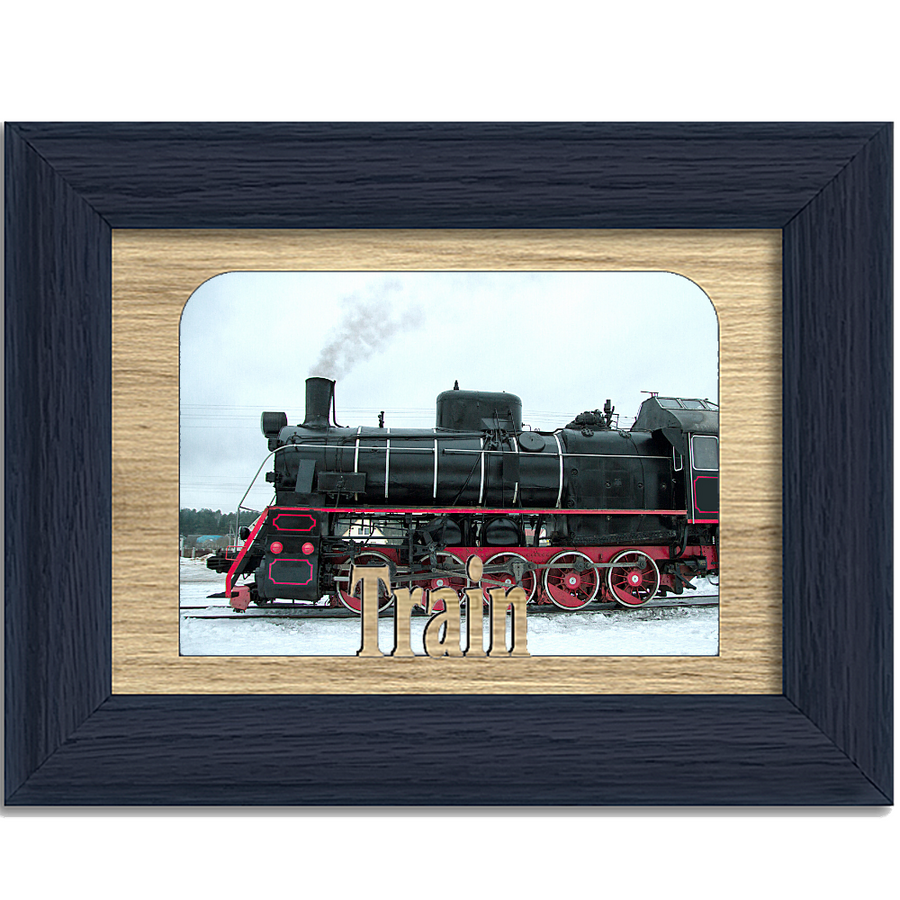 Train Tabletop Picture Frame - Holds 4x6 Photo - Multiple Color Options
