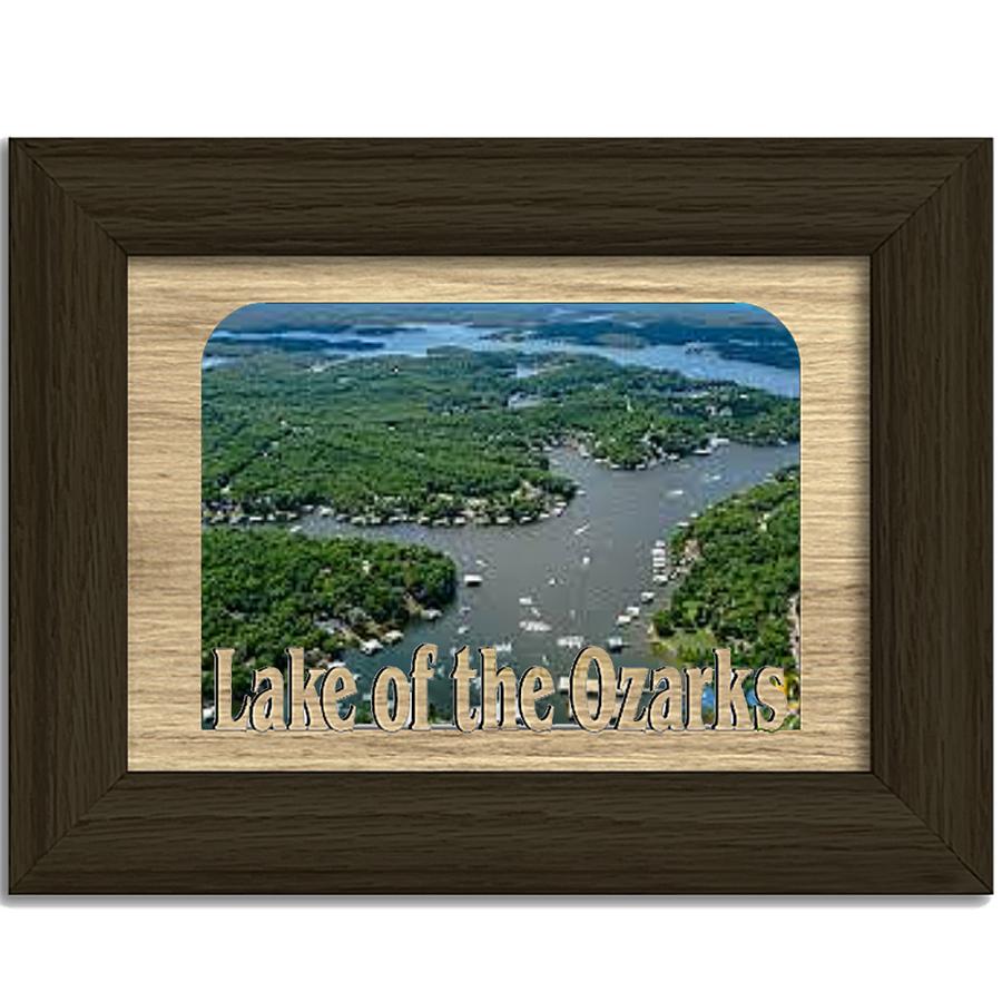 Missouri Lake of the Ozarks Personalized Custom Lake Name Picture Frame 5x7