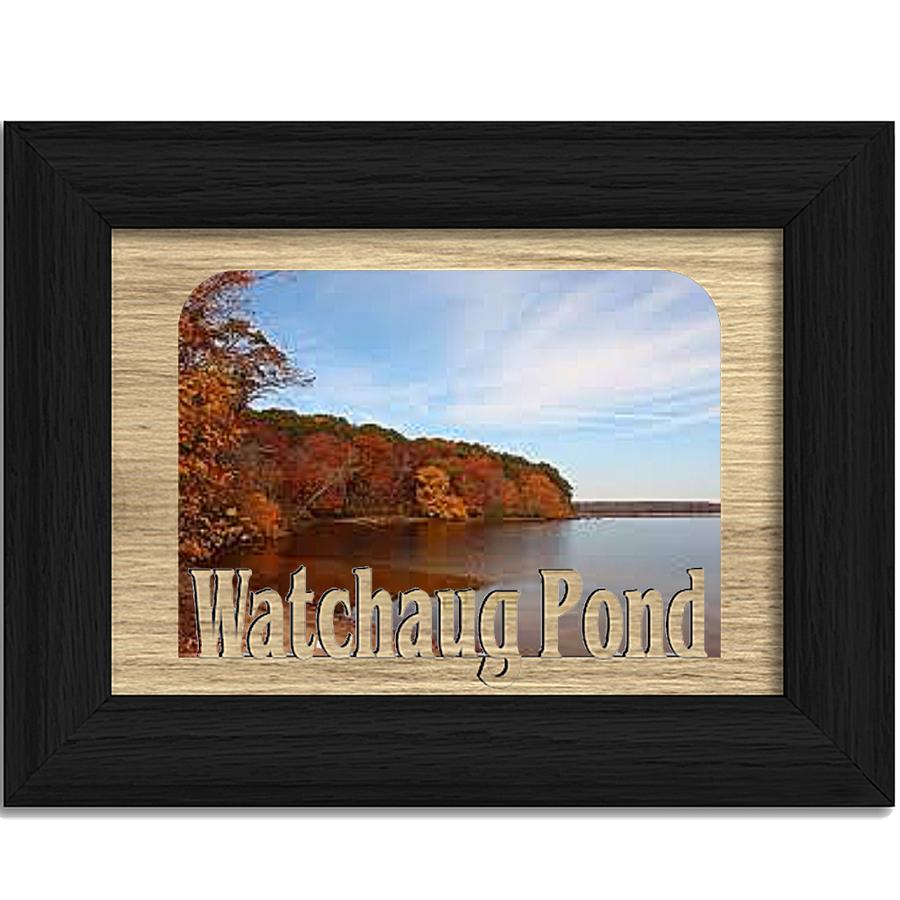 Rhode Island Watchaug Pond Personalized Custom Lake Name Picture Frame 5x7