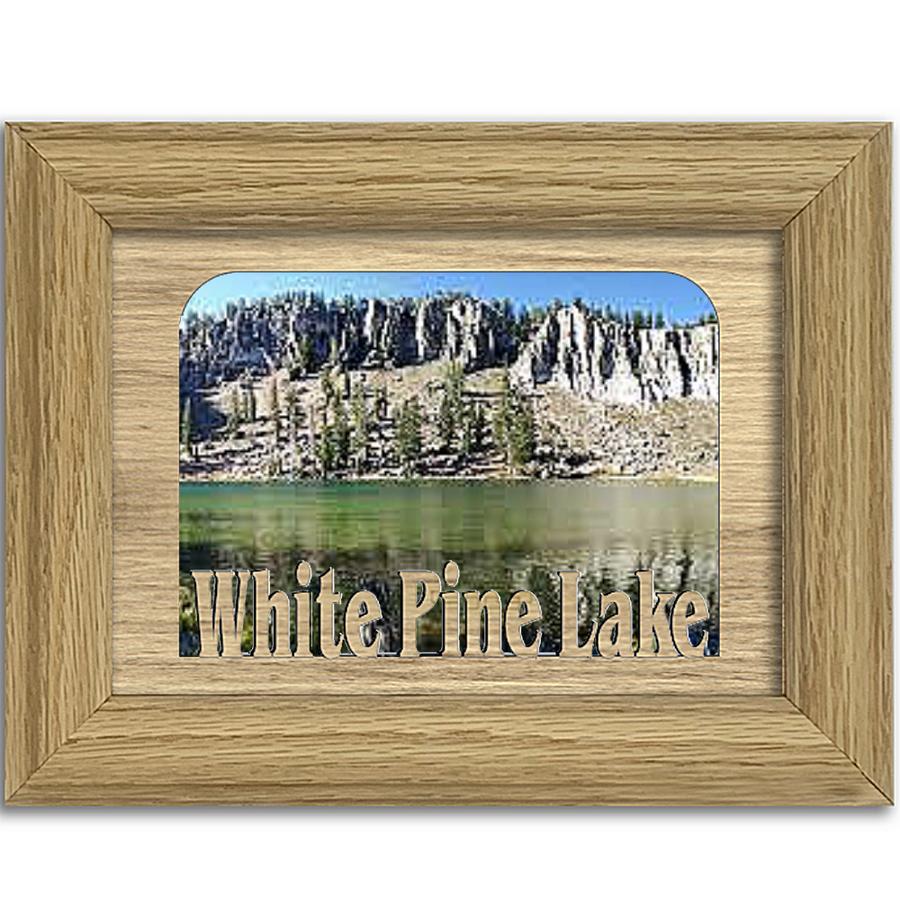 Utah White Pine Lake  Personalized Custom Lake Name Picture Frame 5x7