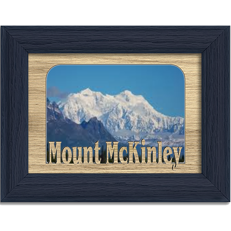 Mount McKinley Tabletop Picture Frame - Holds 4x6 Photo - Multiple Color Options
