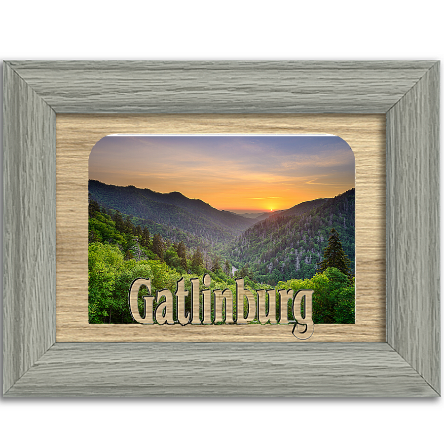 Gatlinburg Tabletop Picture Frame - Holds 4x6 Photo - Multiple Color Options