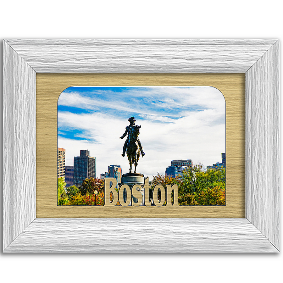 Boston Tabletop Picture Frame - Holds 4x6 Photo - Multiple Color Options