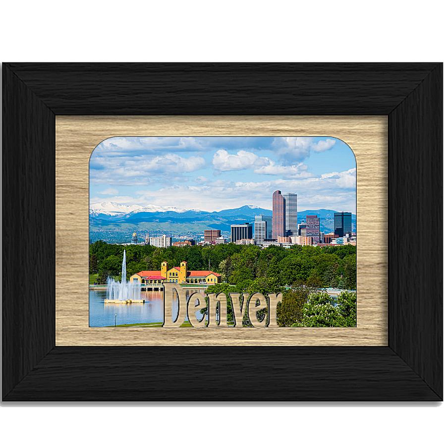 Denver Tabletop Picture Frame - Holds 4x6 Photo - Multiple Color Options