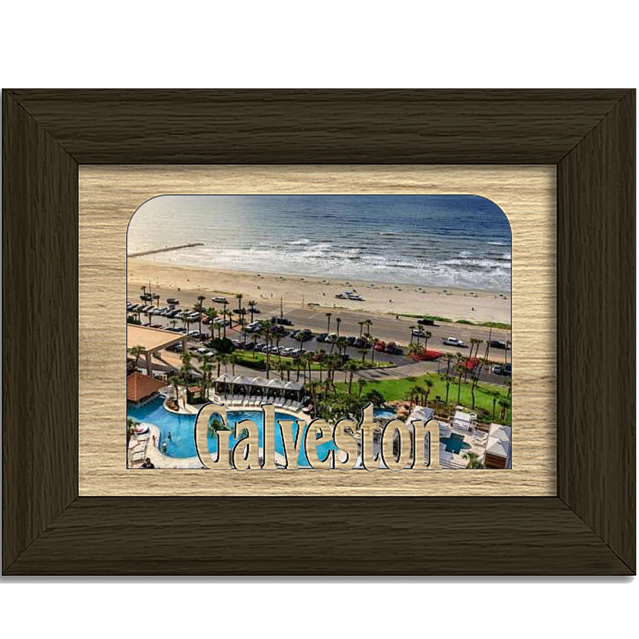 Galveston Tabletop Picture Frame - Holds 4x6 Photo - Multiple Color Options
