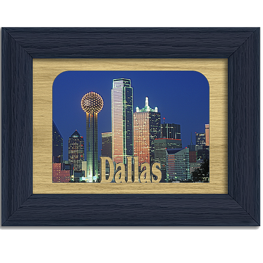 Dallas Tabletop Picture Frame - Holds 4x6 Photo - Multiple Color Options