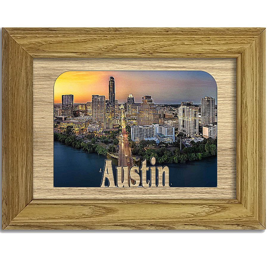 Austin Tabletop Picture Frame - Holds 4x6 Photo - Multiple Color Options