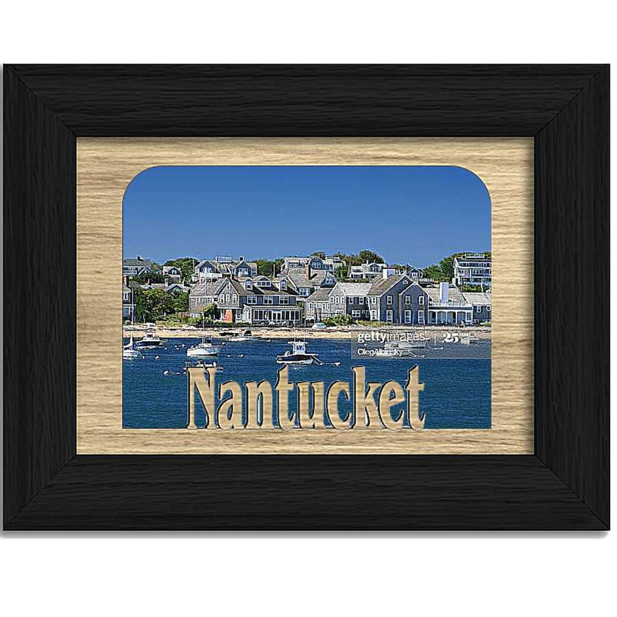 Nantucket Tabletop Picture Frame - Holds 4x6 Photo - Multiple Color Options