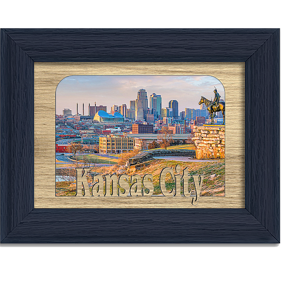 Kansas City Tabletop Picture Frame - Holds 4x6 Photo - Multiple Color Options