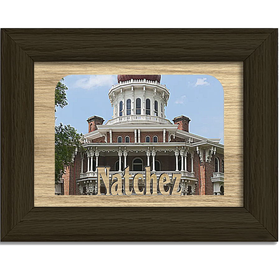 Natchez Tabletop Picture Frame - Holds 4x6 Photo - Multiple Color Options