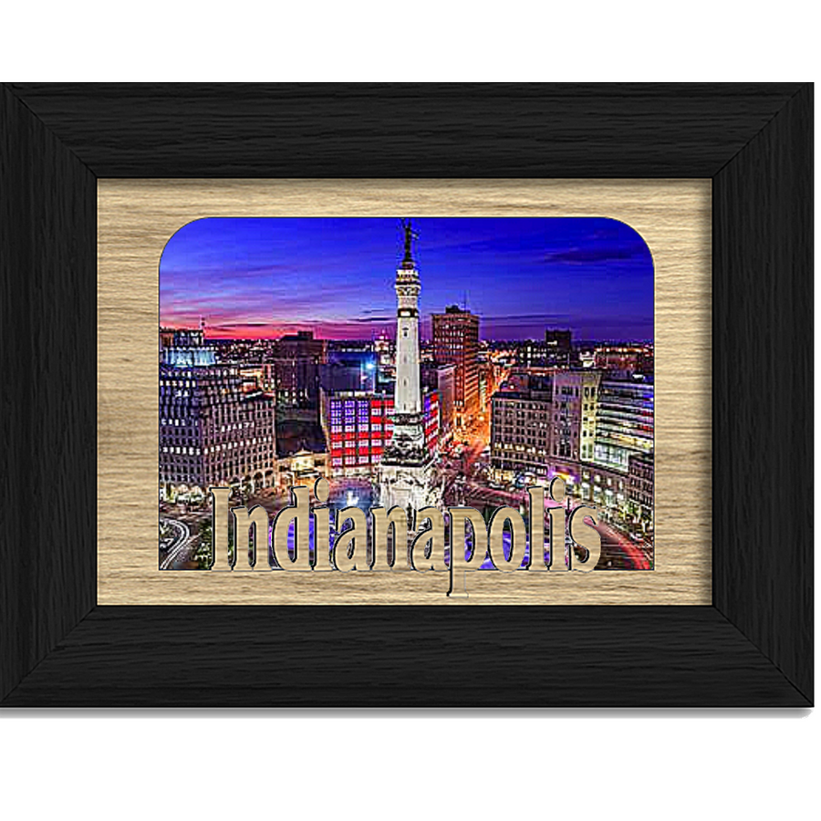 Indianapolis Tabletop Picture Frame - Holds 4x6 Photo - Multiple Color Options