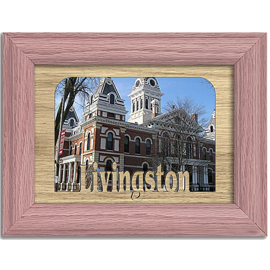 Livingston Tabletop Picture Frame - Holds 4x6 Photo - Multiple Color Options