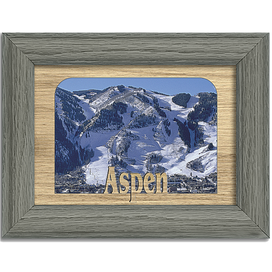Aspen Tabletop Picture Frame - Holds 4x6 Photo - Multiple Color Options