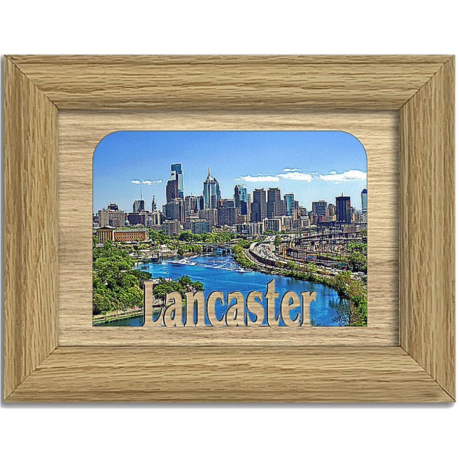 Lancaster Tabletop Picture Frame - Holds 4x6 Photo - Multiple Color Options