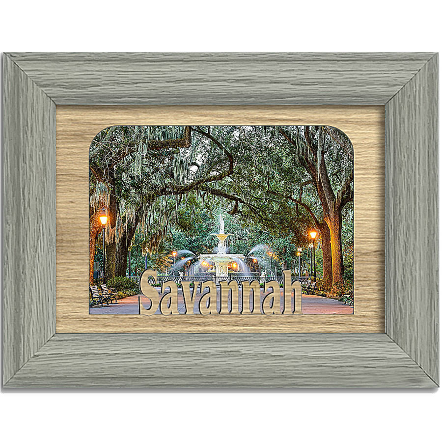 Savannah Tabletop Picture Frame - Holds 4x6 Photo - Multiple Color Options