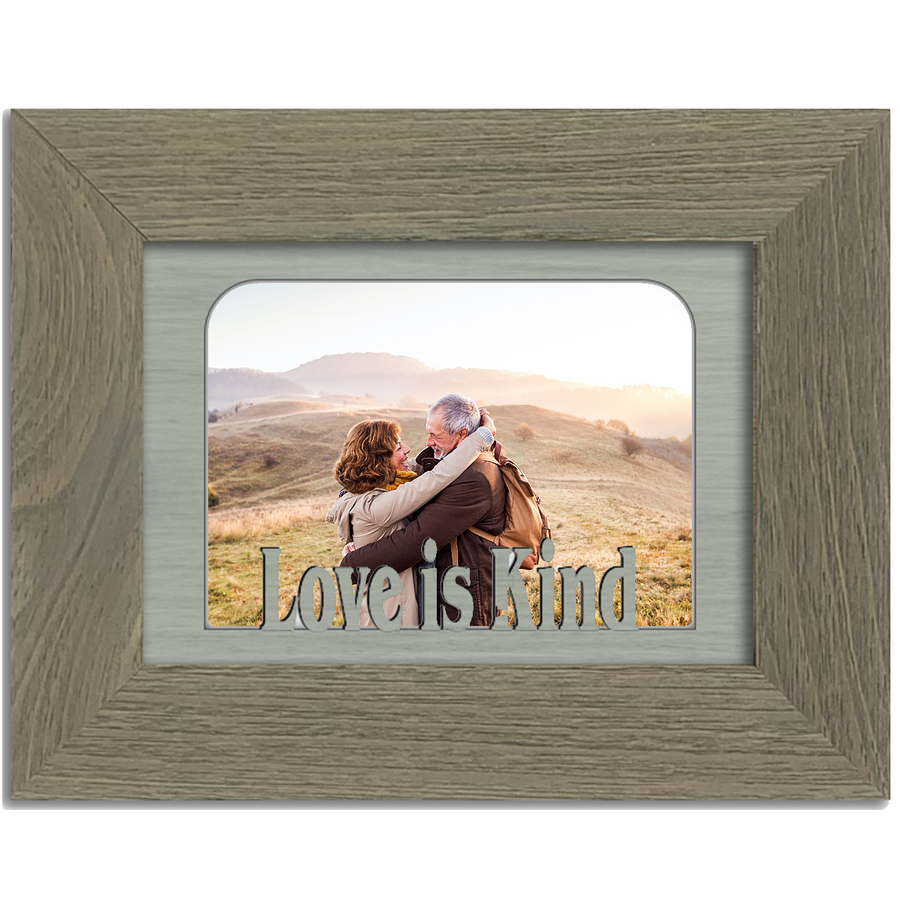 Love is Kind Tabletop Picture Frame - Holds 4x6 Photo - Multiple Color Options
