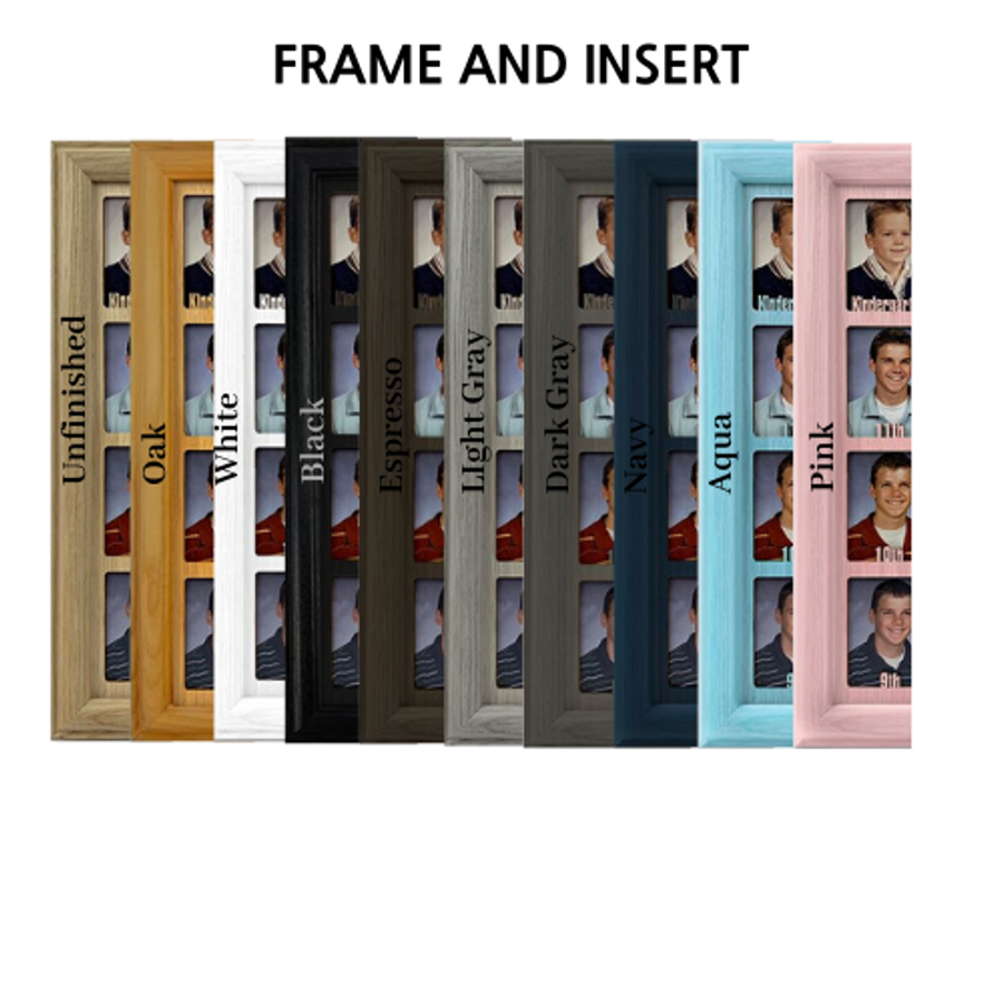 Up North Tabletop Picture Frame - Holds 4x6 Photo - Multiple Color Options