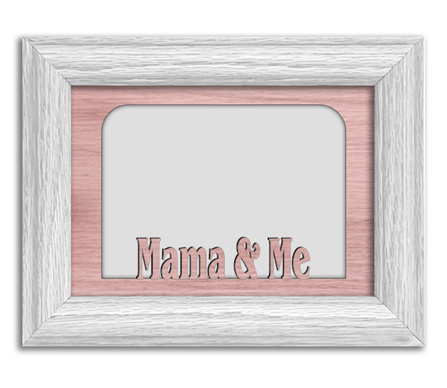 Mama and Me Tabletop Picture Frame - Holds 4x6 Photo - Multiple Color Options