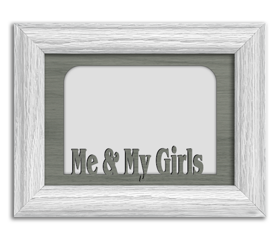 Me and My Girls Tabletop Picture Frame - Holds 4x6 Photo - Multiple Color Options