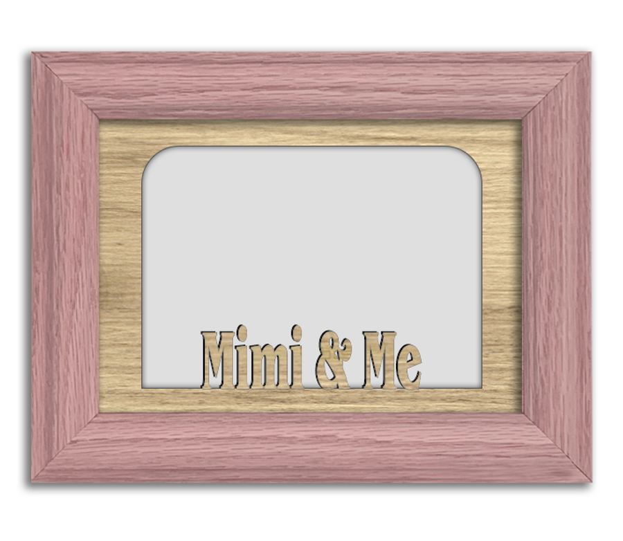 Mimi and Me Tabletop Picture Frame - Holds 4x6 Photo - Multiple Color Options