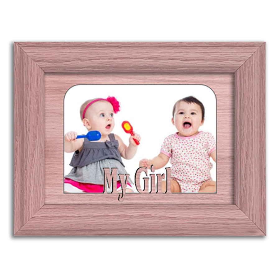 My Girl Tabletop Picture Frame - Holds 4x6 Photo - Multiple Color Options