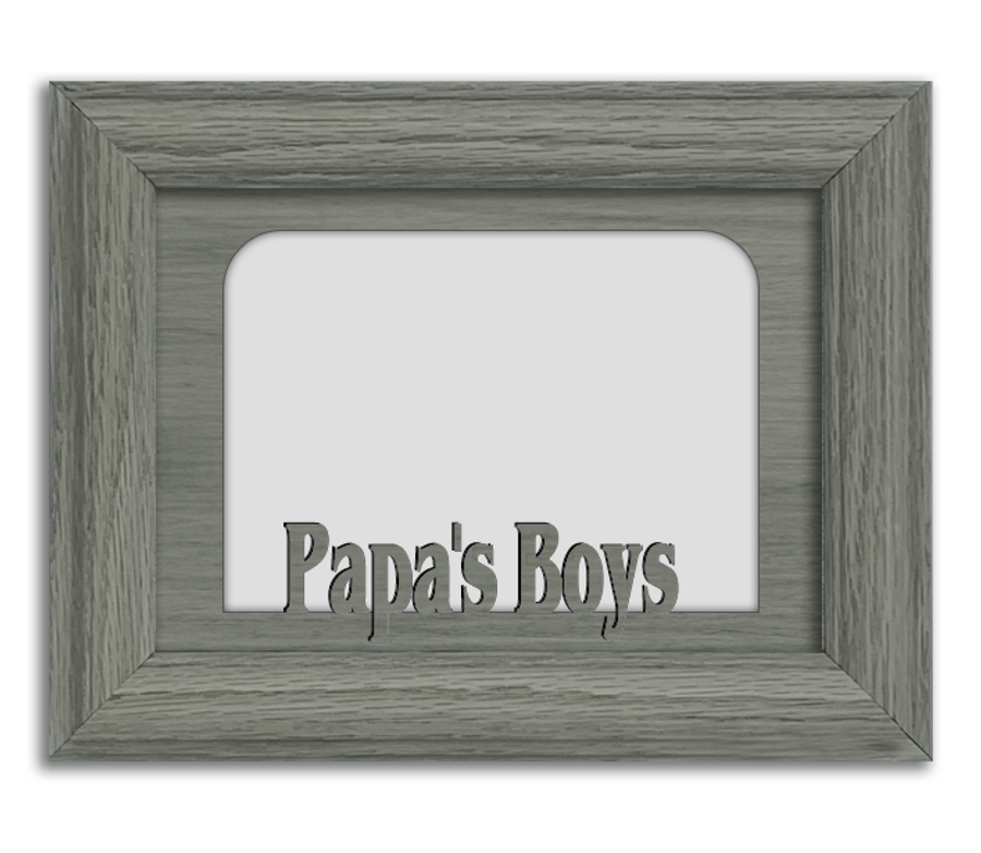 Papa's Boys Tabletop Picture Frame - Holds 4x6 Photo - Multiple Color Options