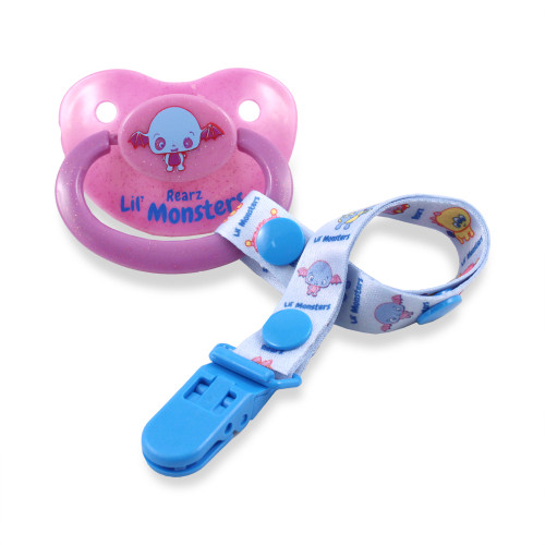 Lil' Monsters Midnight Bat Pacifier and Clip