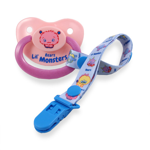 Lil' Monsters Puffy Pacifier and Clip