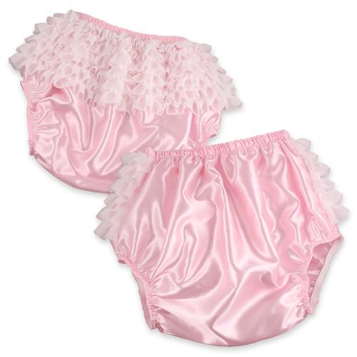 Pink Satin Rhumba Waterproof Panties