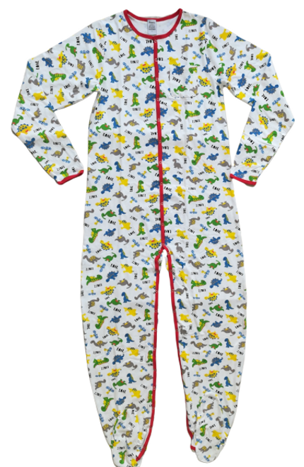 Dinosaur Adult Footed Jammies