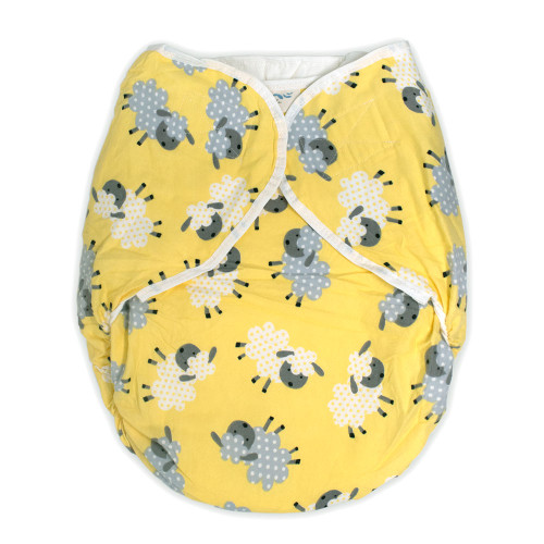 Omutsu Bulky Nighttime Cloth Diaper - Yellow Sheep
