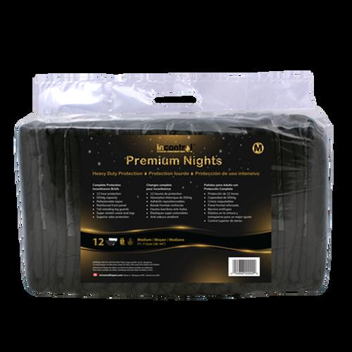 InControl Premium Nights Briefs (Black)