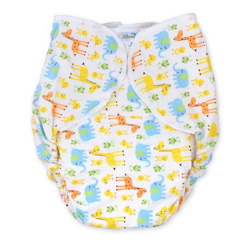 Omutsu Bulky Nighttime Cloth Diaper - Zoo