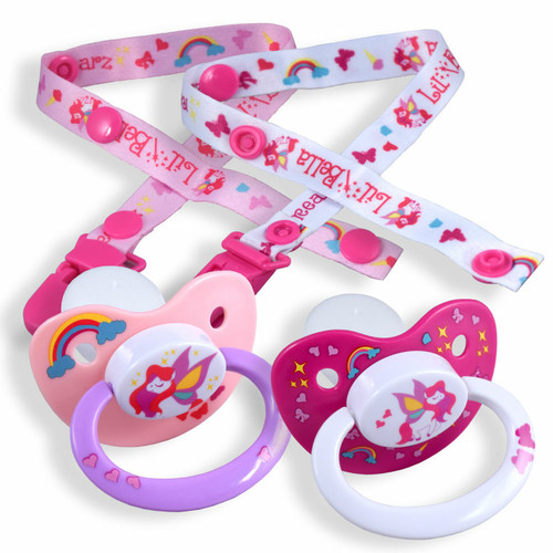 Lil Bella Pacifier and Clip 2 Pack