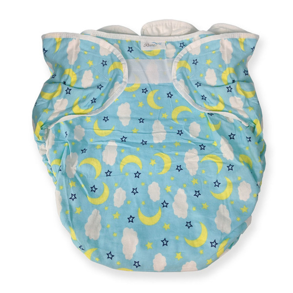 Omutsu Bulky Nighttime Adult Cloth Diaper - Blue Clouds