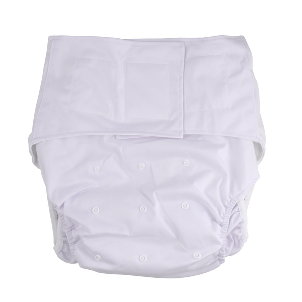 Adult Pocket Diaper - White