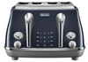 Delonghi CTOC4003BL Icona Capitals 4 Slice Toaster - London Blue