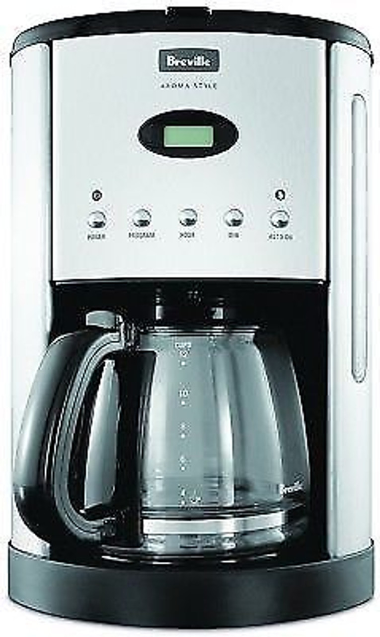 Breville BCM600BLK Aroma Style Electronic Drip Coffee Maker with Timer - Black