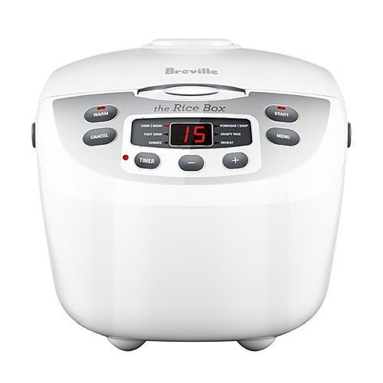 Breville BRC460WHT the Rice Box™ 10 Cup Programmable Rice Cooker