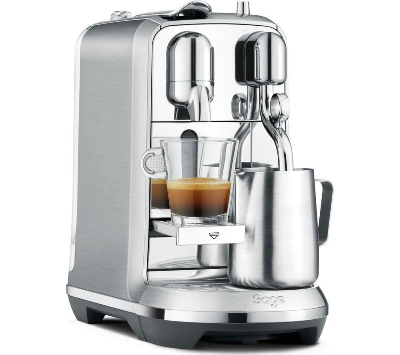 Breville Nespresso BNE800BSS Creatista Plus Capsule Machine - Stainless Steel