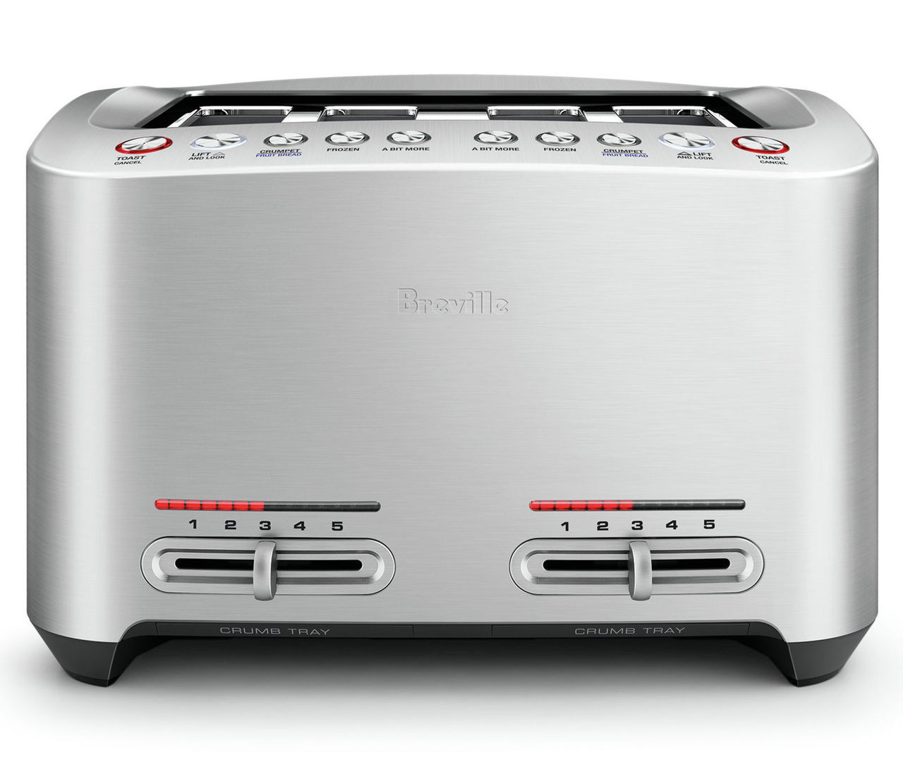 Breville BTA845BSS the Smart Toast® 4 Slice Toaster - Stainless Steel
